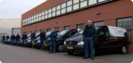 Servicebussen bij pand Western Airconditioning B.V.