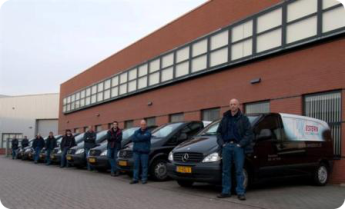 Servicebussen voor pand Western Airconditioning B.V.